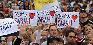 Women Heart Palin